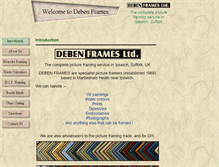 Tablet Preview of debenframes.co.uk